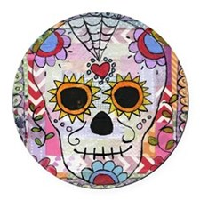day of the dead 1 Round Car Magnet