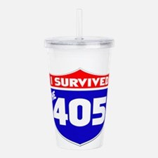 survived405.png Acrylic Double-wall Tumbler