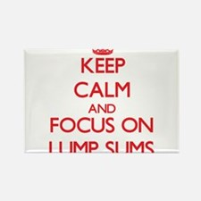 Keep Calm and focus on Lump Sums Magnets