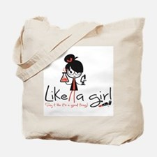 Science Like a girl! Tote Bag