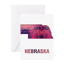 NEBRASKA MAP Greeting Cards