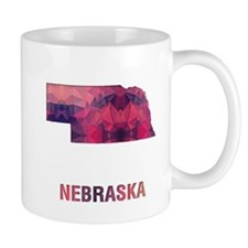 NEBRASKA MAP Mugs
