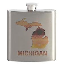 Unique Michigan state Flask