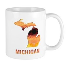 MICHIGAN MAP Mugs