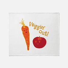 Veggin Out Throw Blanket