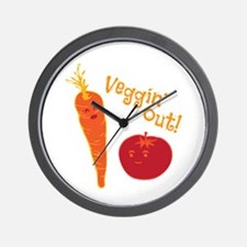 Veggin Out Wall Clock