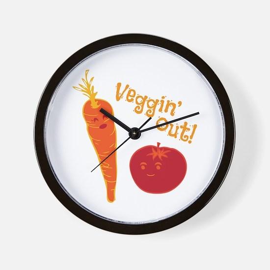 Veggin Out Wall Clock