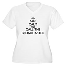 Keep calm and call the Broadcaster Plus Size T-Shi