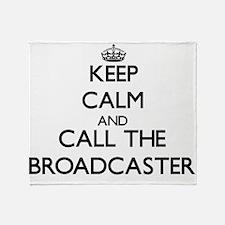 Unique Broadcasting Throw Blanket