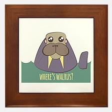 Wheres Walrus Framed Tile