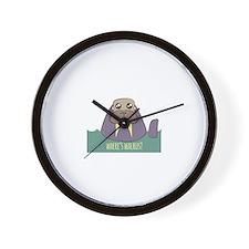 Wheres Walrus Wall Clock