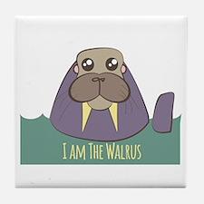 I Am The Walrus Tile Coaster
