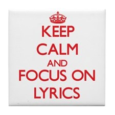 Song lyrics Tile Coaster