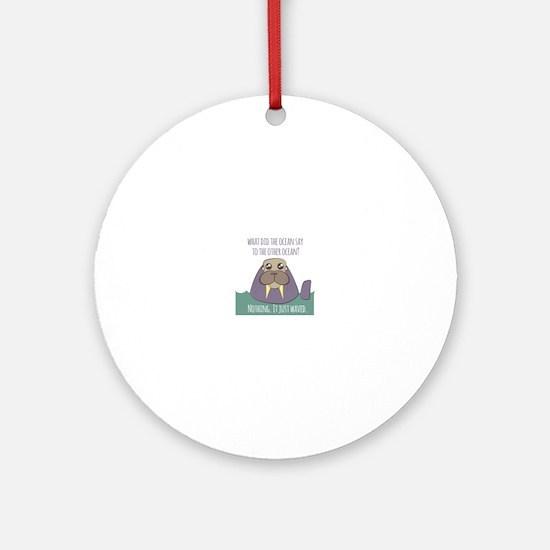 Walrus Joke Ornament (Round)
