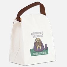 Walrus Joke Canvas Lunch Bag