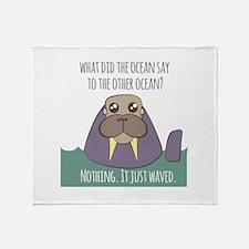 Walrus Joke Throw Blanket