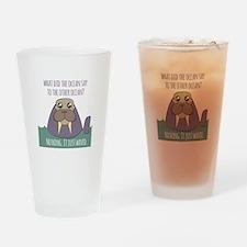 Walrus Joke Drinking Glass