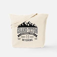 Grand Teton Vintage Tote Bag
