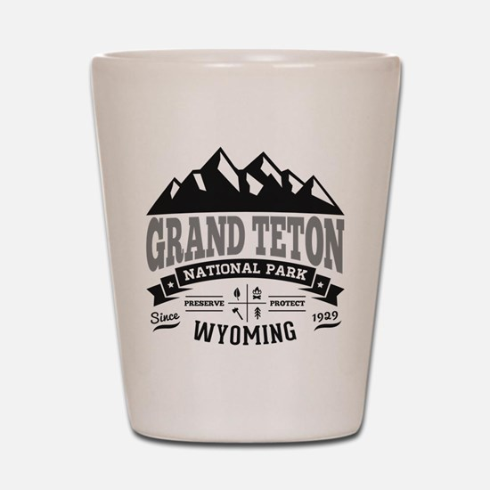 Grand Teton Vintage Shot Glass