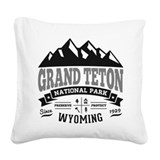 Grand teton Square Canvas Pillows