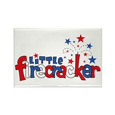 Little Firecracker Rectangle Magnet