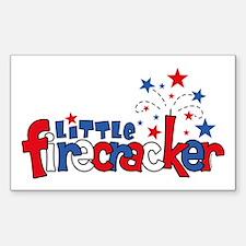 Little Firecracker Rectangle Decal