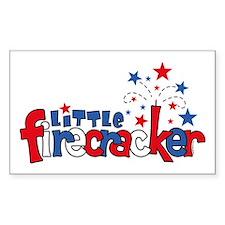 Little Firecracker Rectangle Stickers
