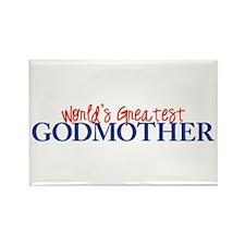 World's Greatest Godmother II Rectangle Magnet