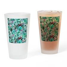 Green Seashells And starfish Drinking Glass