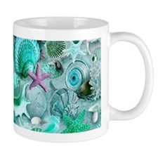 Green Seashells And starfish Mugs