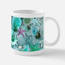 Green Seashells And starfish Mugs