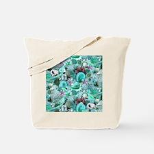 Green Seashells And starfish Tote Bag