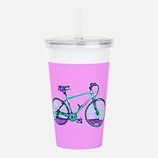 Bike Cycling Bicycle Acrylic Double-Wall Tumbler