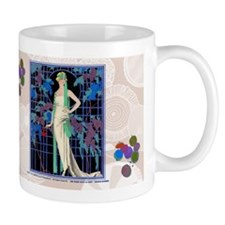 Barbier Art Deco Night Roses Mugs