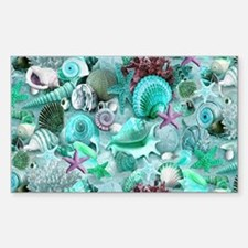 Green Seashells And starfish Decal