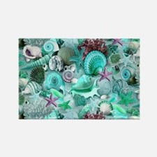 Green Seashells And starfish Magnets