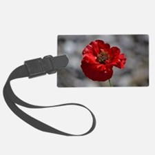 Red Poppy Luggage Tag