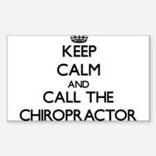 Keep calm and call the Chiropractor Decal