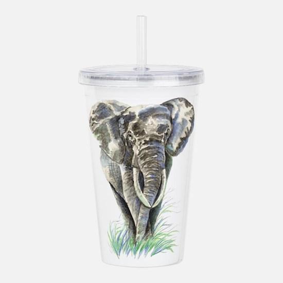 Watercolor Elephant Animal art Acrylic Double-wall