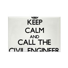 Keep calm and call the Civil Engineer Magnets