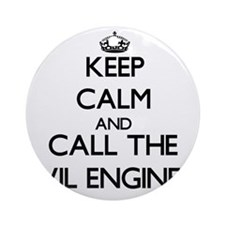 Funny Civil engineer Ornament (Round)