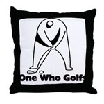 One Who Golfs Throw Pillow