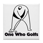 One Who Golfs Tile Coaster