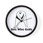 One Who Golfs Wall Clock