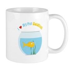 I Love My Pet GoldFish Mugs