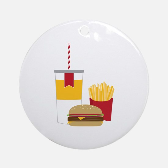 Fast Food Ornament (Round)