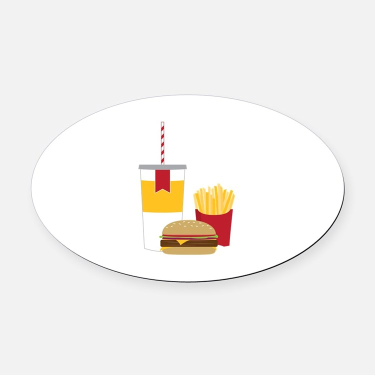 Fast Food Oval Car Magnet