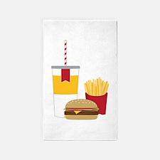 Fast Food 3'x5' Area Rug