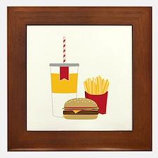 Fast Food Framed Tile