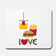 Love Fast Food Mousepad